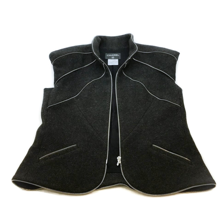 Chanel Multi Zipper Wool Vest