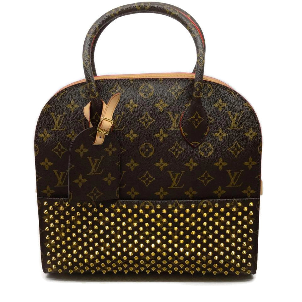Louis Vuitton Limited Edition Louboutin Calf Hair Brown Monogram Leather Tote