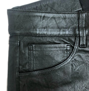 3X1 Black Higher Ground Mini Split Leather Pants