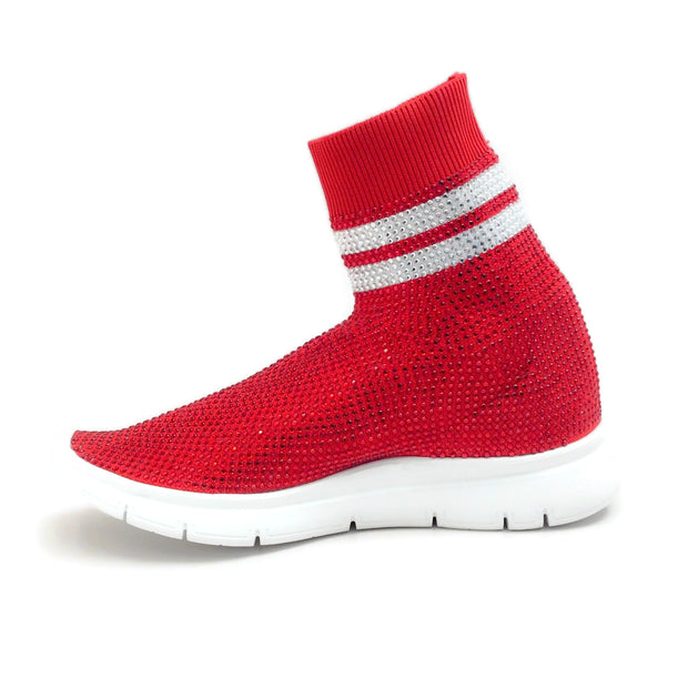 Joshua Sanders Red All Strass Sneakers