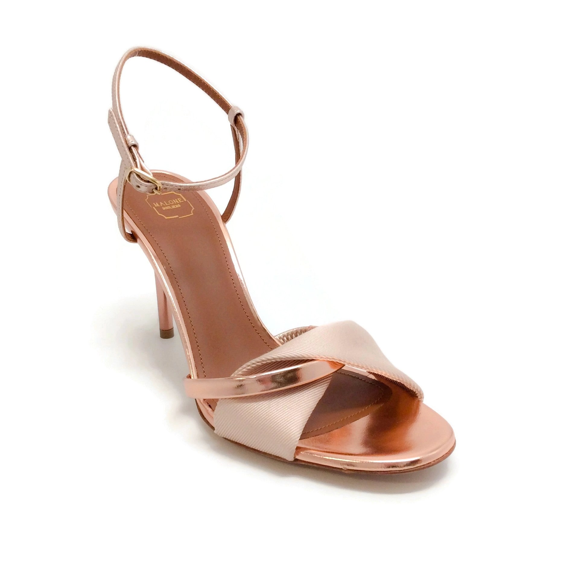 Malone Souliers Nude / Rose Gold Terry Sandals