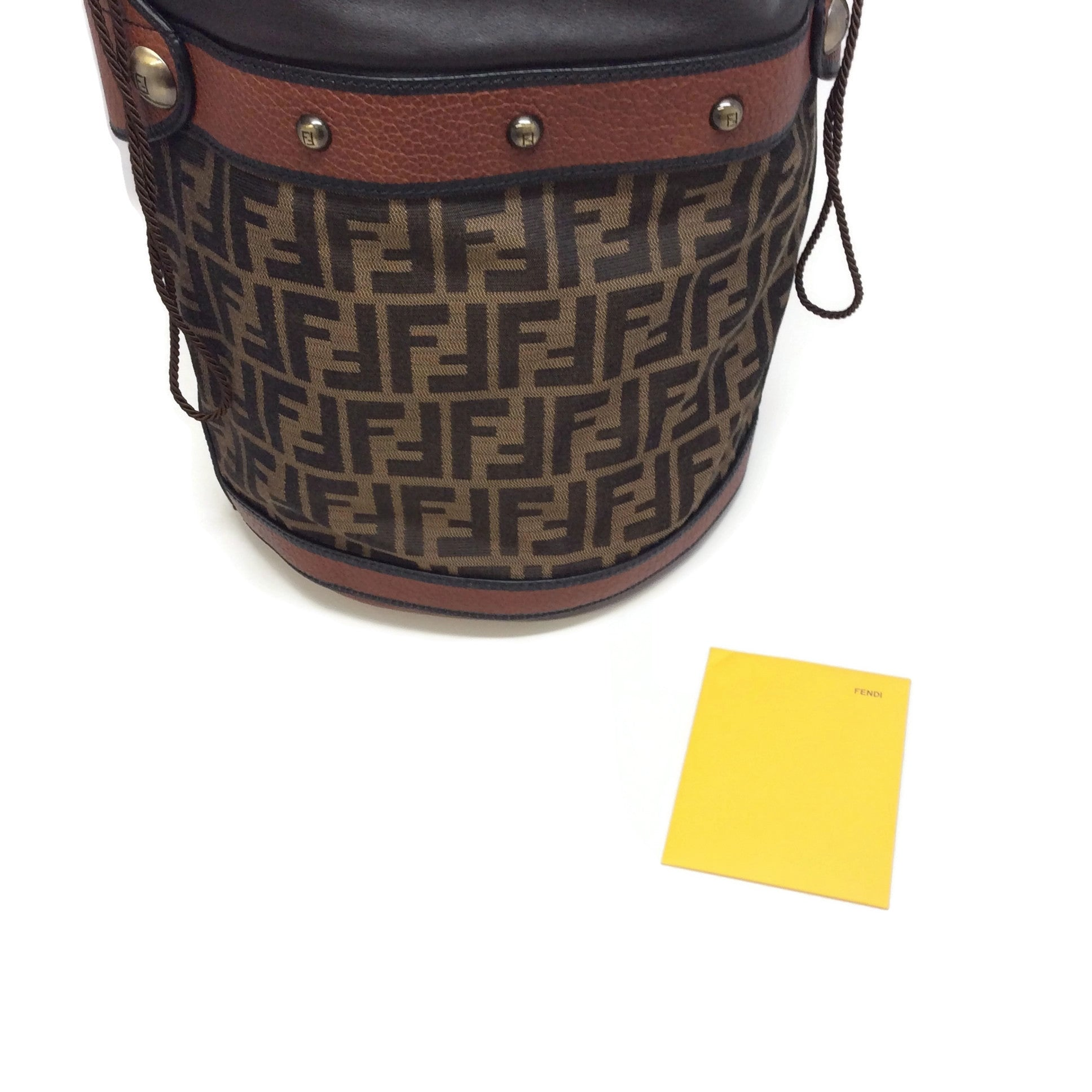 Fendi Zucca Brown Canvas / Leather Tote
