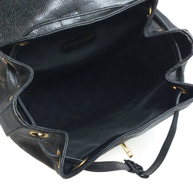 Chanel 1996 / 1997 Black Caviar Leather Backpack