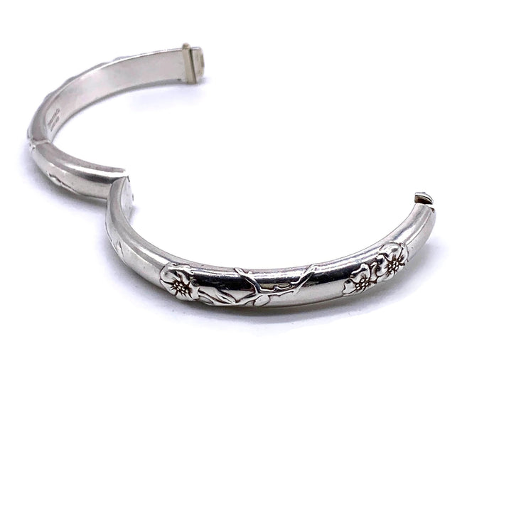 Tiffany & Co. Sterling Silver Nature Rose Bangle Bracelet