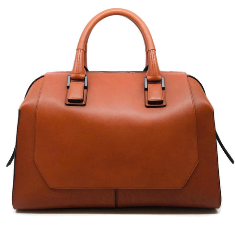 Narciso Rodriguez Bowler Burnt Orange Leather Satchel