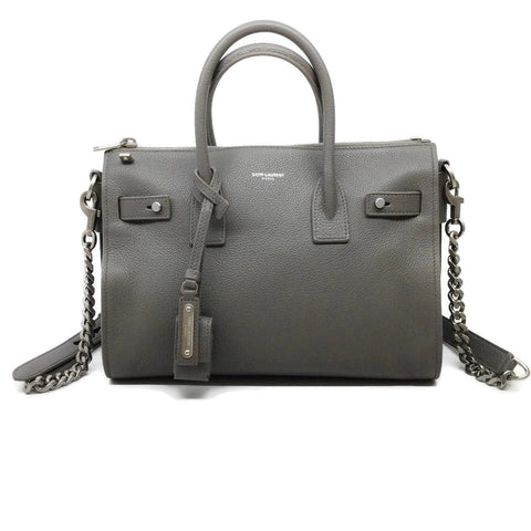Saint Laurent Sac de Jour Baby Souple Grey Leather Satchel