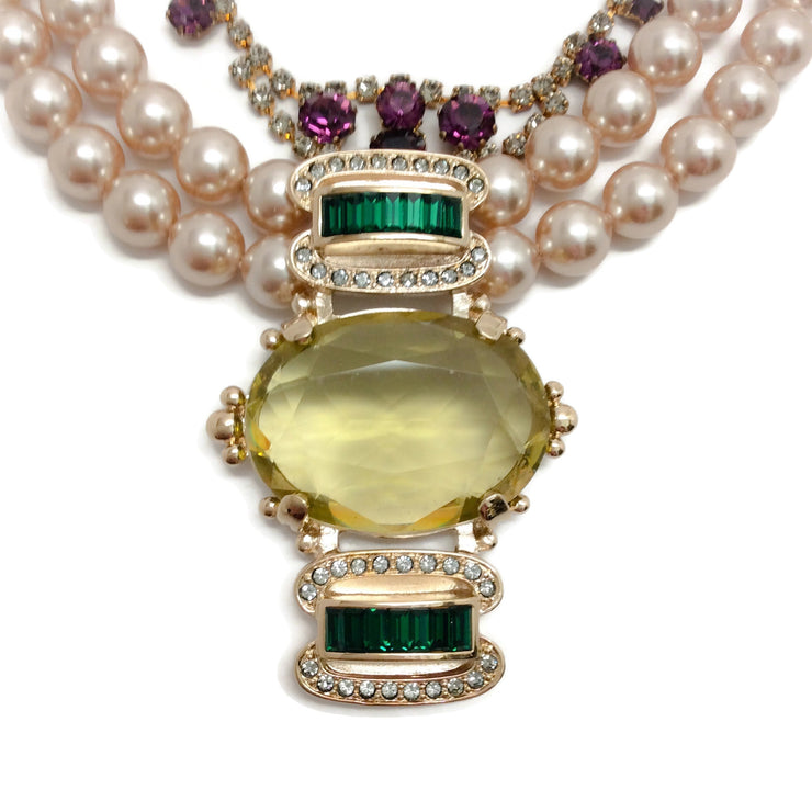 MAWI Pearl Citrine Necklace