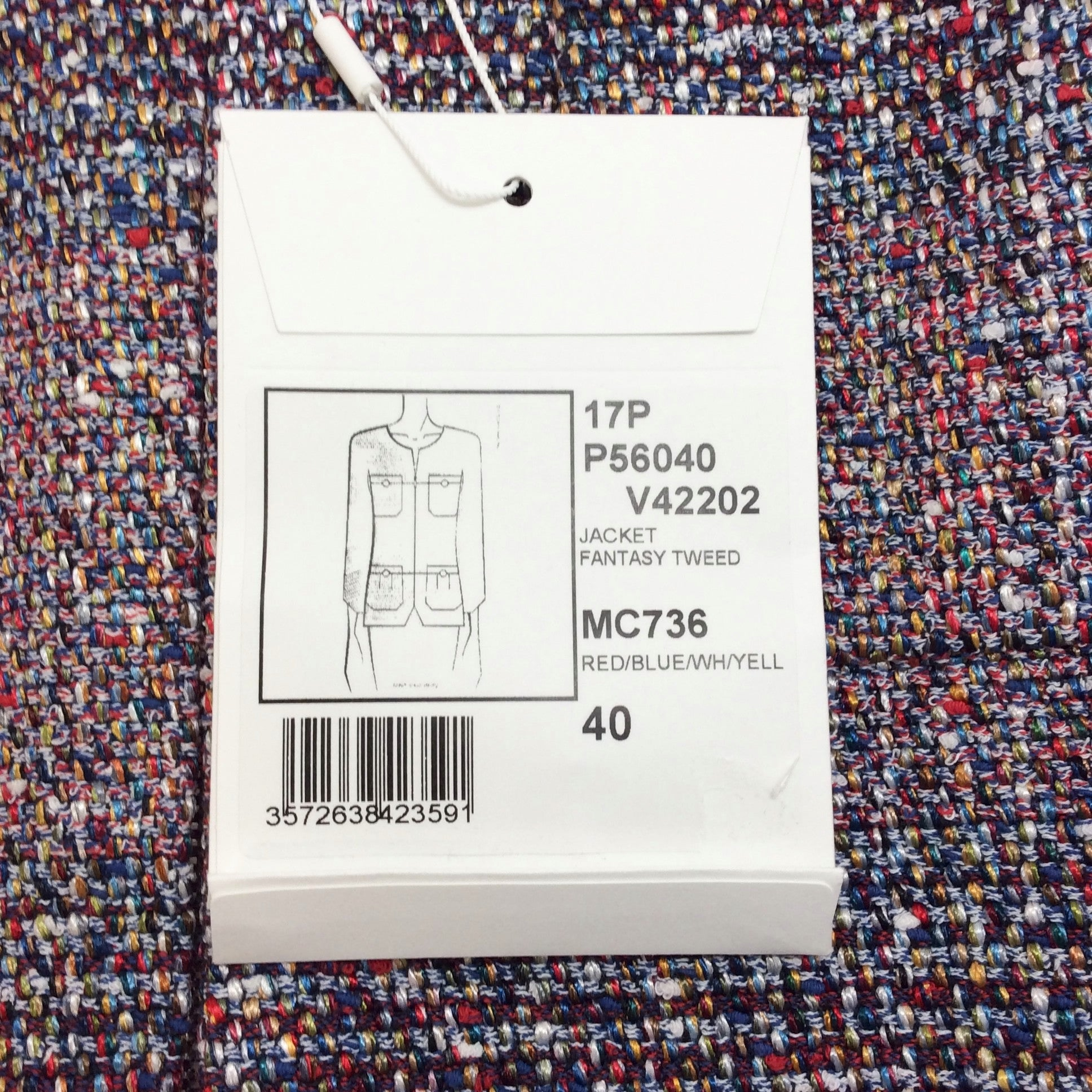 Chanel Multicolor 17P Fantasy Tweed Blazer