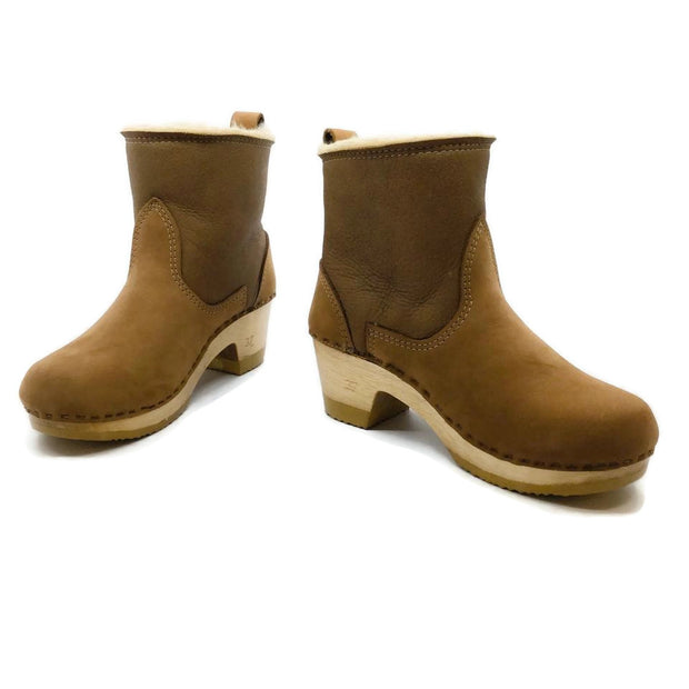 No. 6 Tan Shearling Pull On Boots/Booties