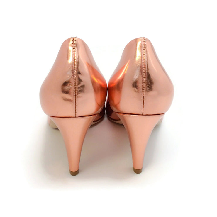 Sclarandis Rose Gold Mirror Pumps