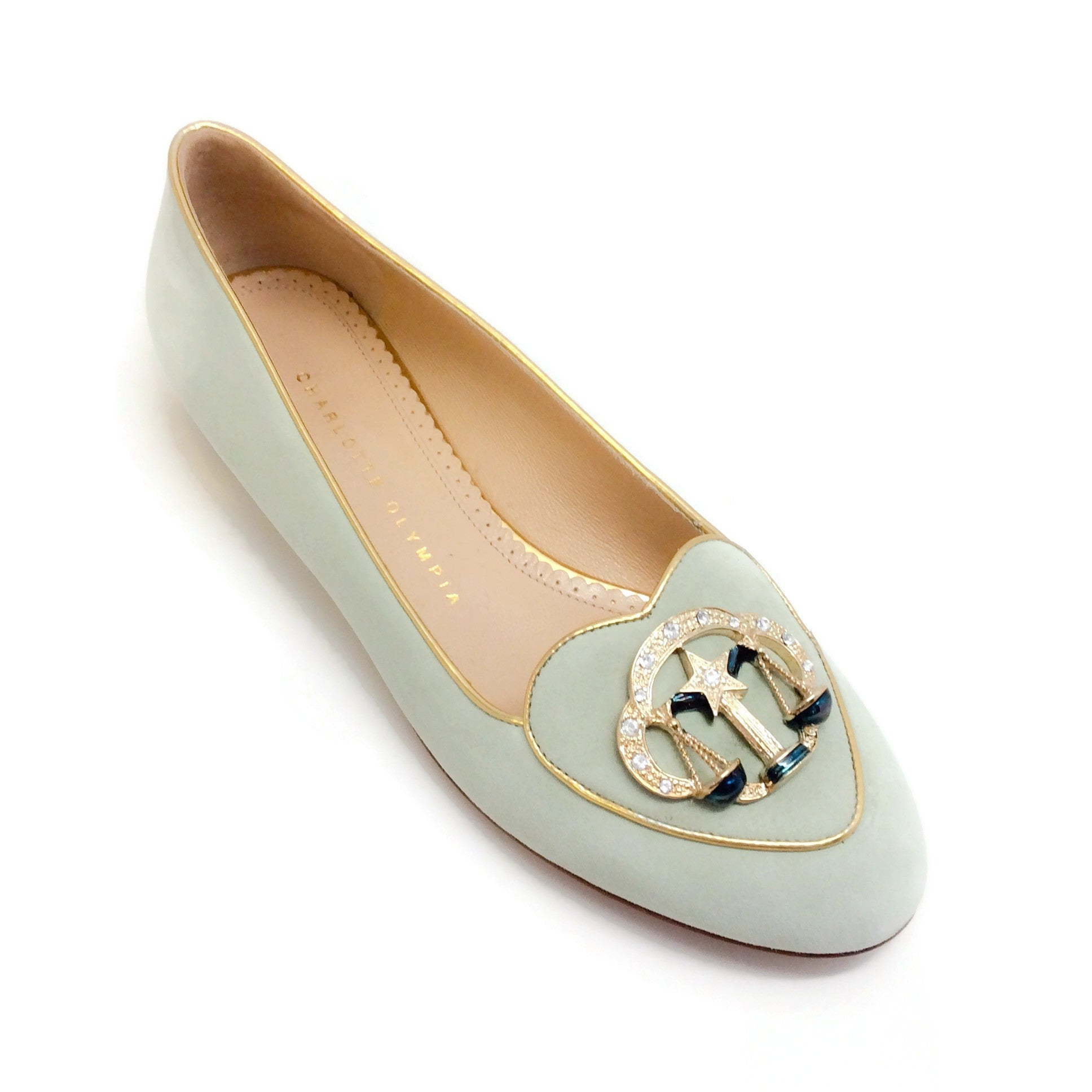 Charlotte Olympia Mint Cosmic Collection Libra Loafers