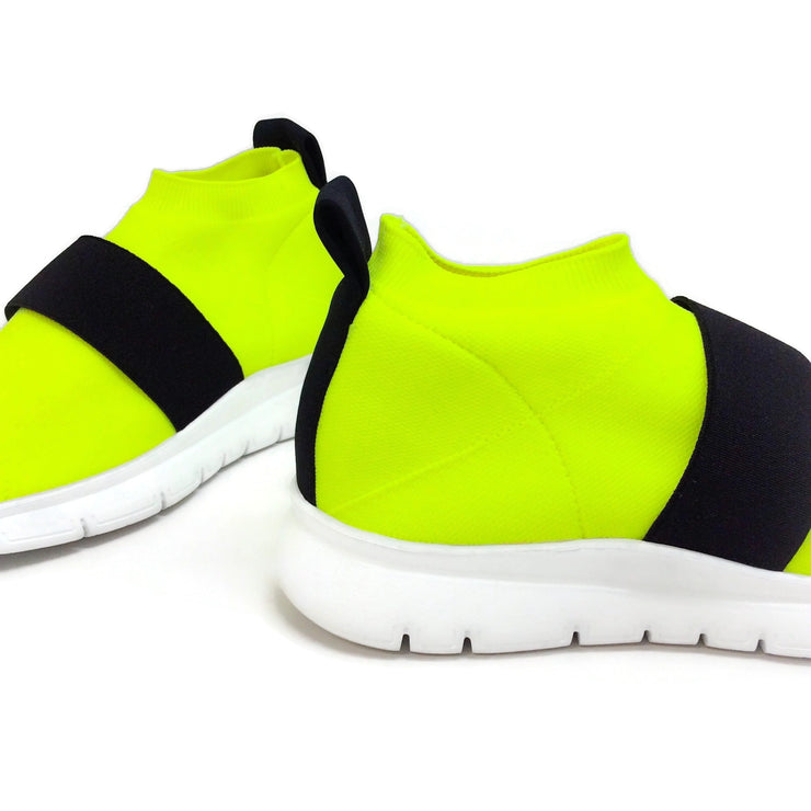 Joshua Sanders Neon Yellow Jump Low Sneakers