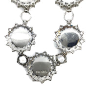 Prada Crystal White Rose Necklace