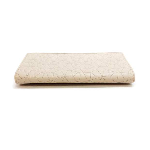Akris Cream Quilted Flap Wallet