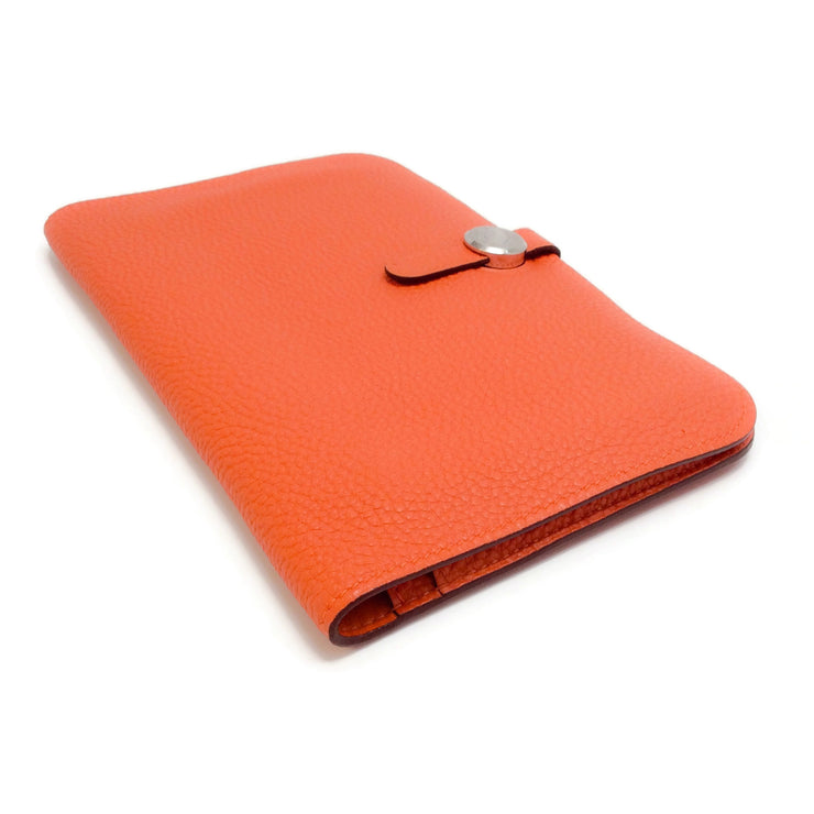 Hermès Orange 2004 Dogon Duo Large Wallet