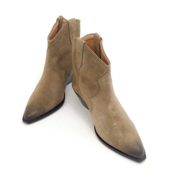 Isabel Marant Taupe Suede Dewina Boots