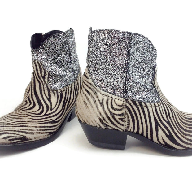 Golden Goose Deluxe Brand Mini Zebra Glitter Young Boots