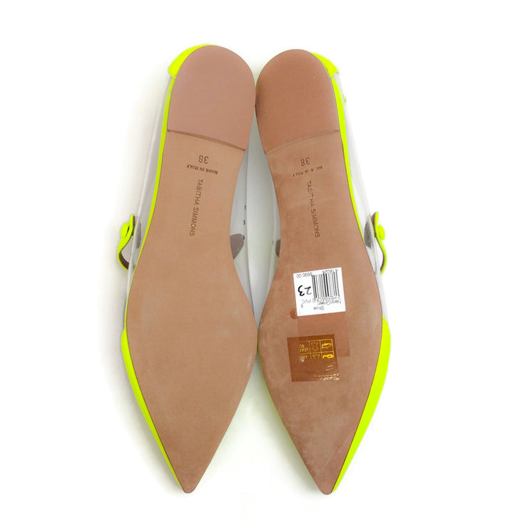Tabitha Simmons Yellow / Clear Hermione Flats
