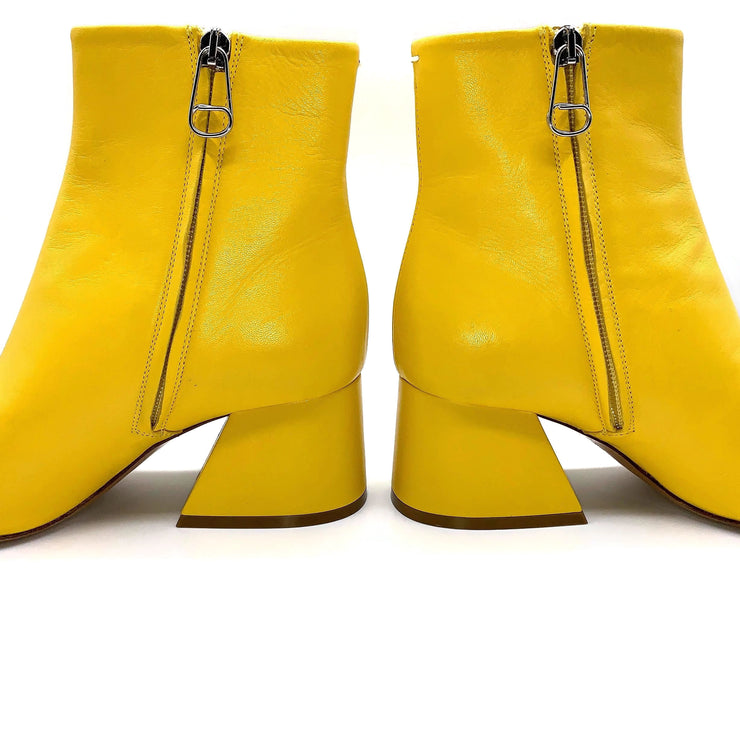 Martin Margiela Yellow Open Toe Tabi Boots