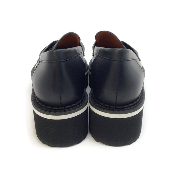 Robert Clergerie Black Leather Booster Loafers