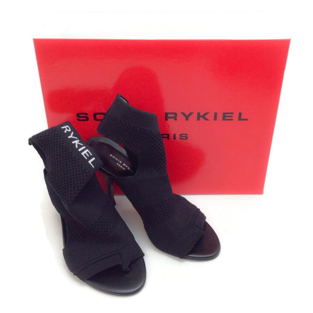 Sonia Rykiel Black Cut Out Sock Boots
