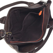 Hermès Caravan Horizontal Dark Brown Derma Leather Satchel