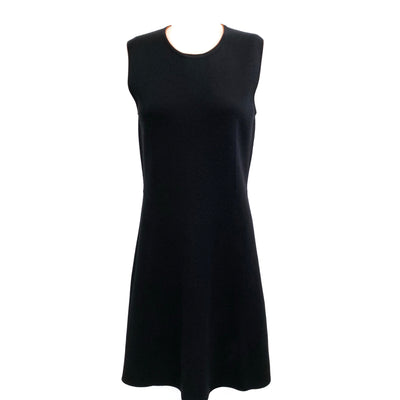 Hermès Black / Orange Sleeveless Knit Shift Casual Dress