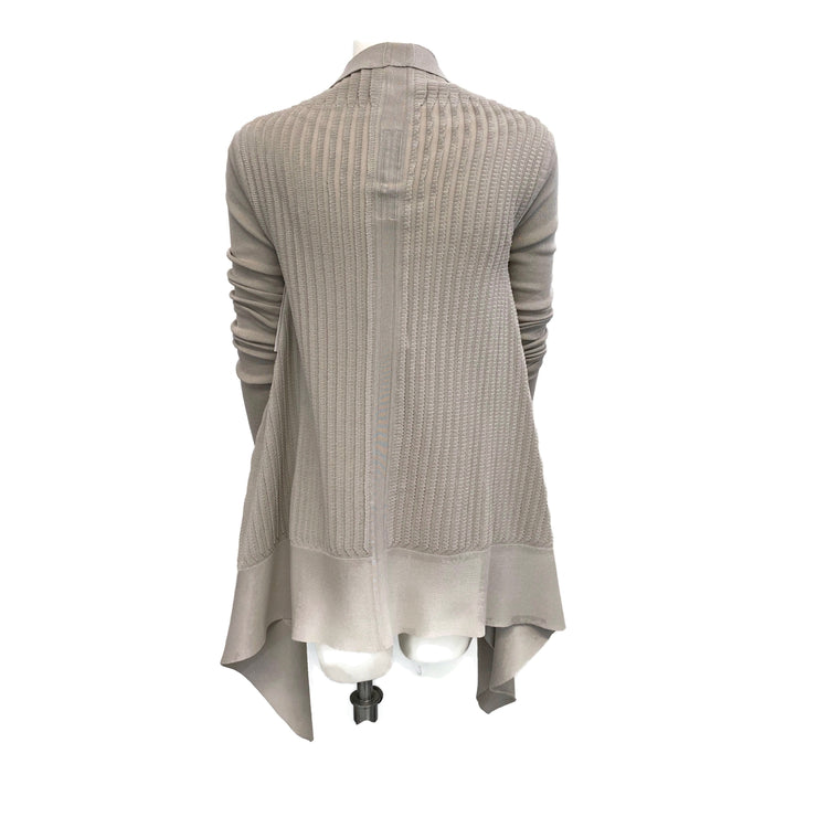 Rick Owen Wrap Drape Oyster Sweater