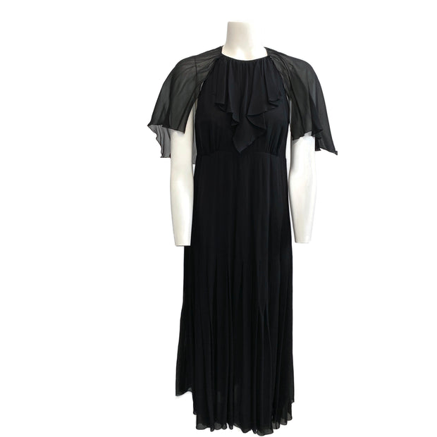 Chloé Black Vintage 1994 Chiffon Cocktail Dress