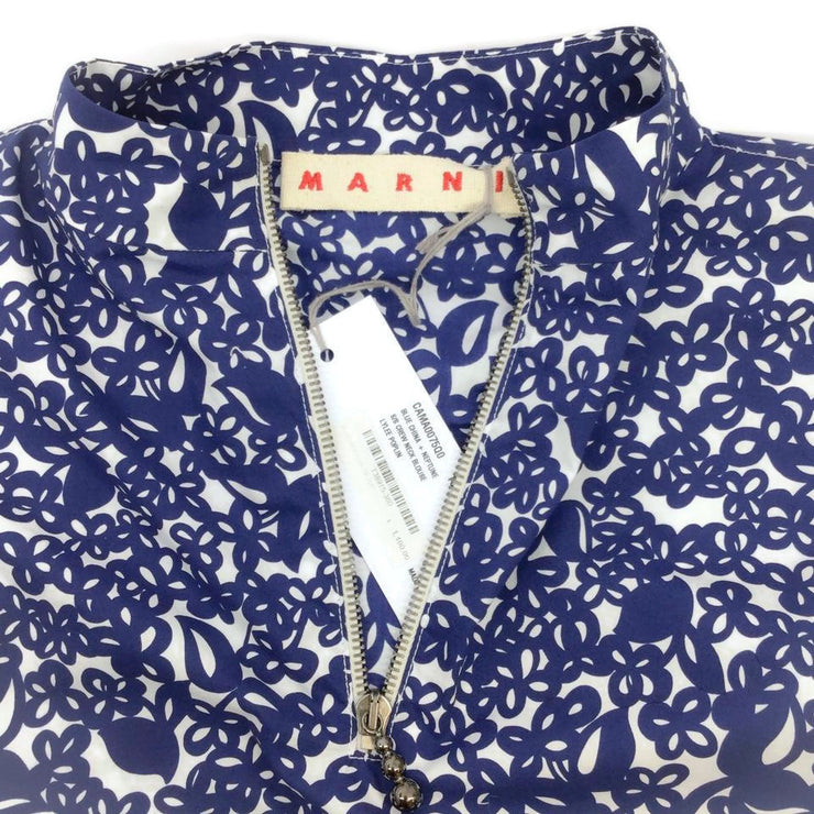Marni Navy Lylee Floral Print Tunic
