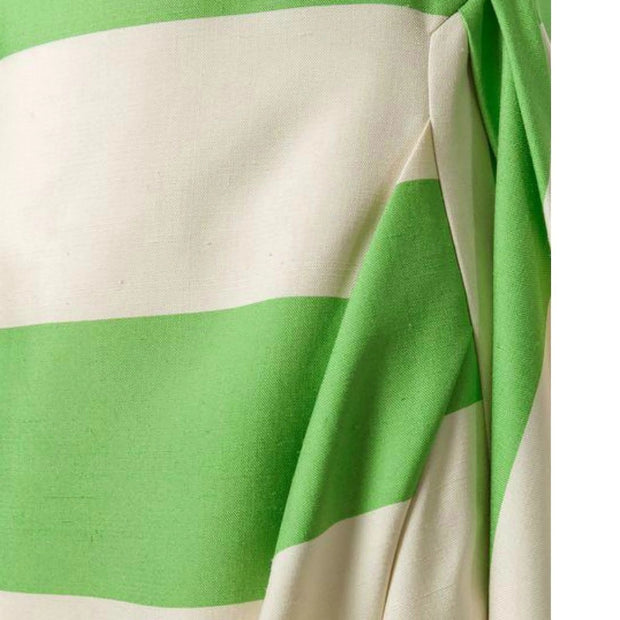 "Calvin Klein 205W39NYC Ivory Lime Stripe ""Day Designer"" Casual Dress"