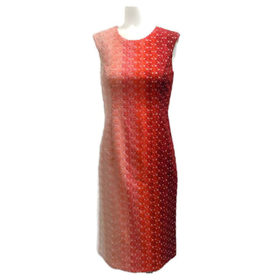 Missoni Pink and Red Ombre Shimmer Cocktail Dress