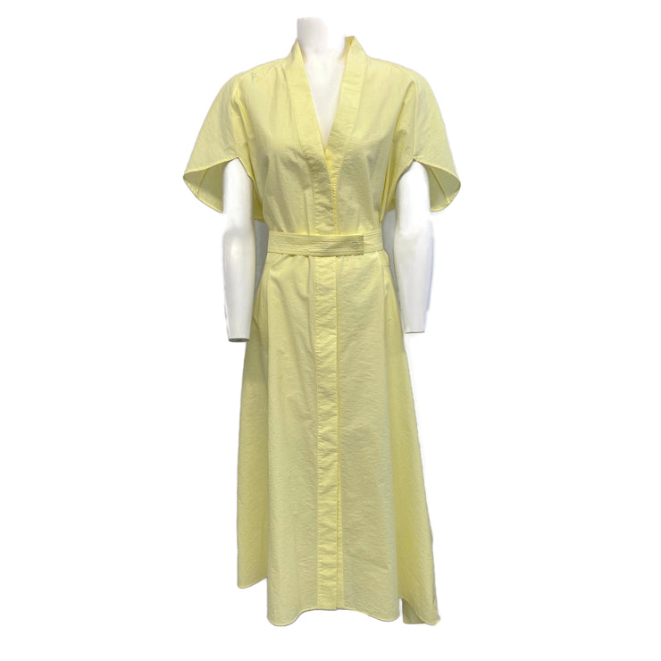 Narciso Rodriguez Yellow Cotton Belted Dress