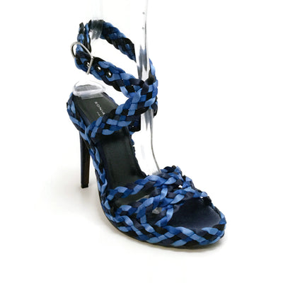 Sonia Rykiel Blue Ombre Braided Ankle Strap Sandals