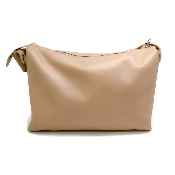 Céline Knot Handle Nude Leather Shoulder Bag