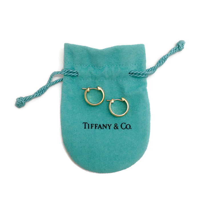 Tiffany & Co. 18k Gold 1993 Mini Atlas Hoops Earrings