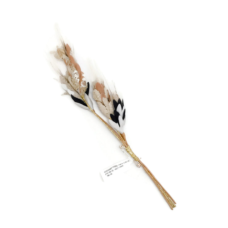 Chanel Beige Tissu Fantaisie Wheat Brooch