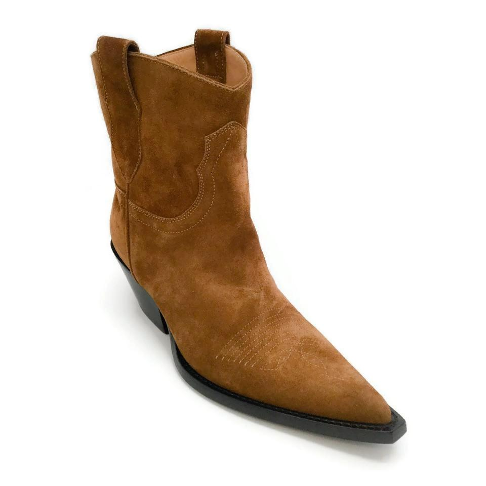 Maison Margiela Tobacco Suede Western Boots