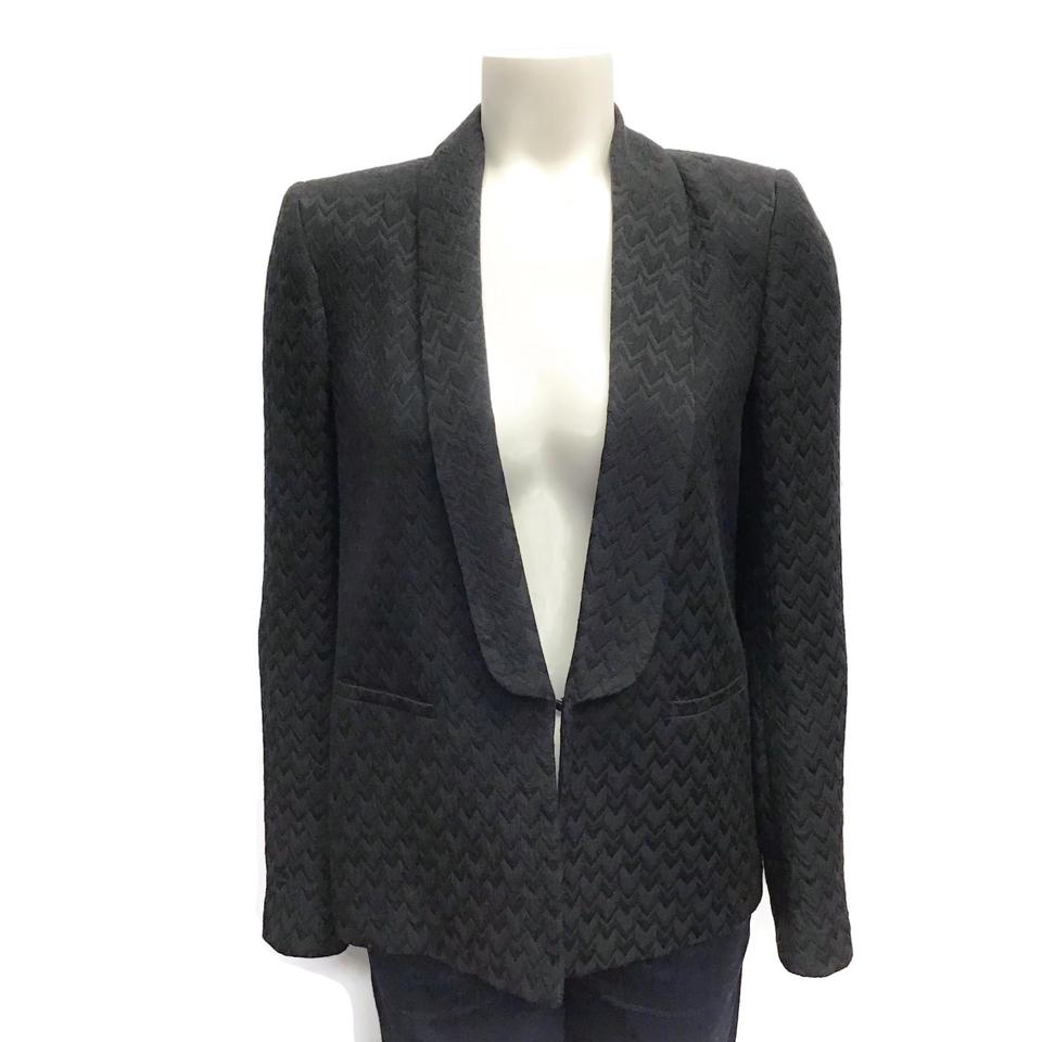 Maje Black Textured Blazer