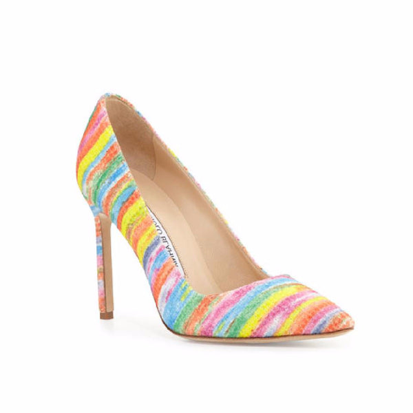 M-BB 105 Rainbow Pumps by Manolo Blahnik