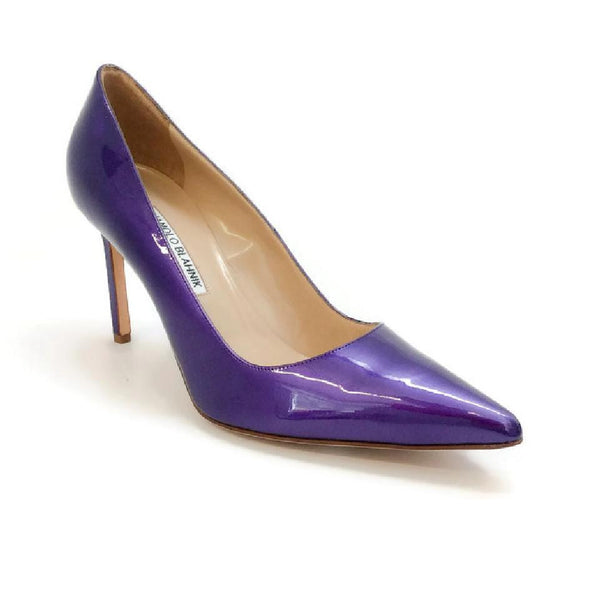 BB 90 Purple Patent Pumps by Manolo Blahnik