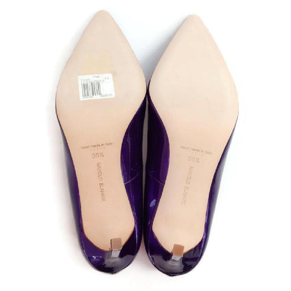BB 90 Purple Patent Pumps by Manolo Blahnik 39.5