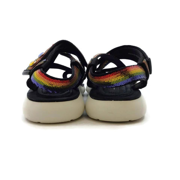 Marc Jacobs Multicolored / White Rainbow Sequin Sandals