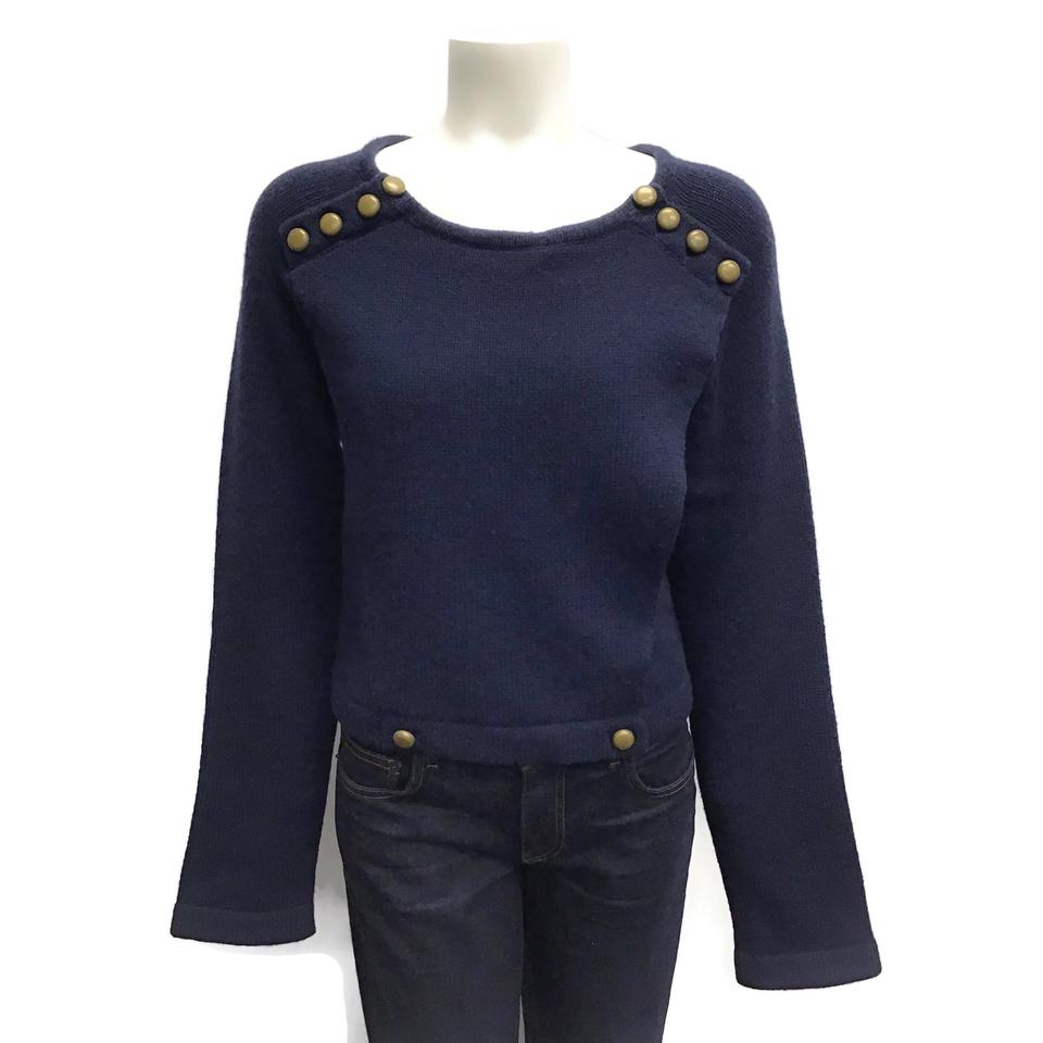 Marc Jacobs Wool Crop Navy Sweater