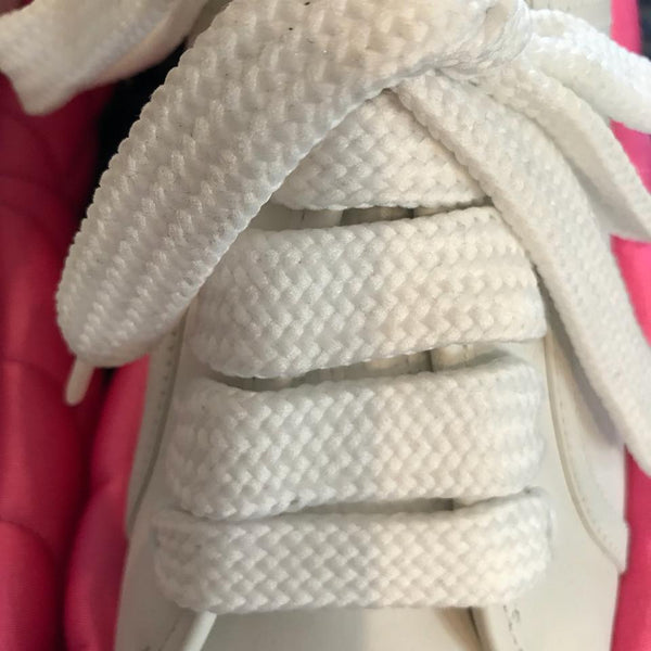 Marco de Vincenzo White/Bubblegum Pink Padded Lace Up Sneakers
