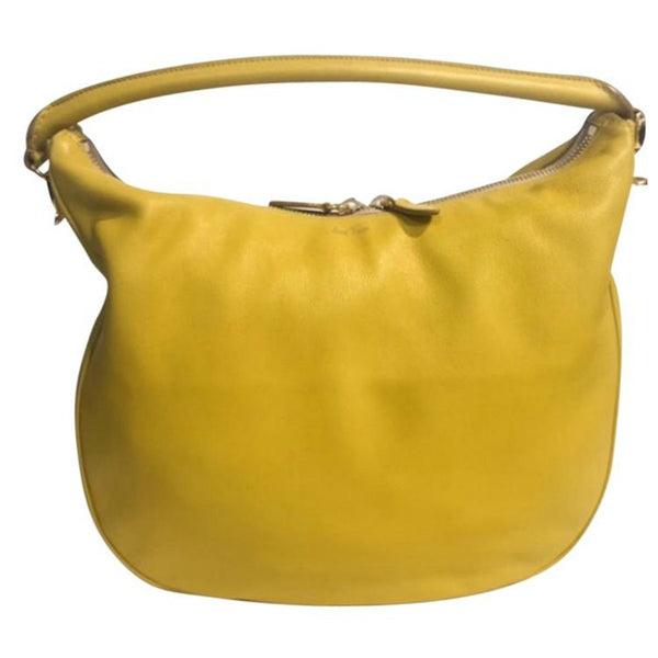 Limited Edition Yellow Satchel by Mark Cross back
