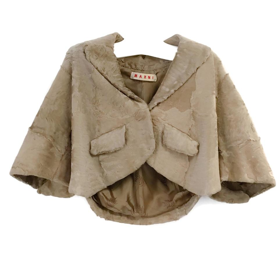 Marni Beige Broadtail Jacket