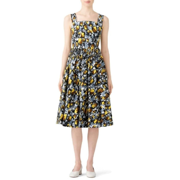 Marni Grey / Yellow Callas Citrus Dress