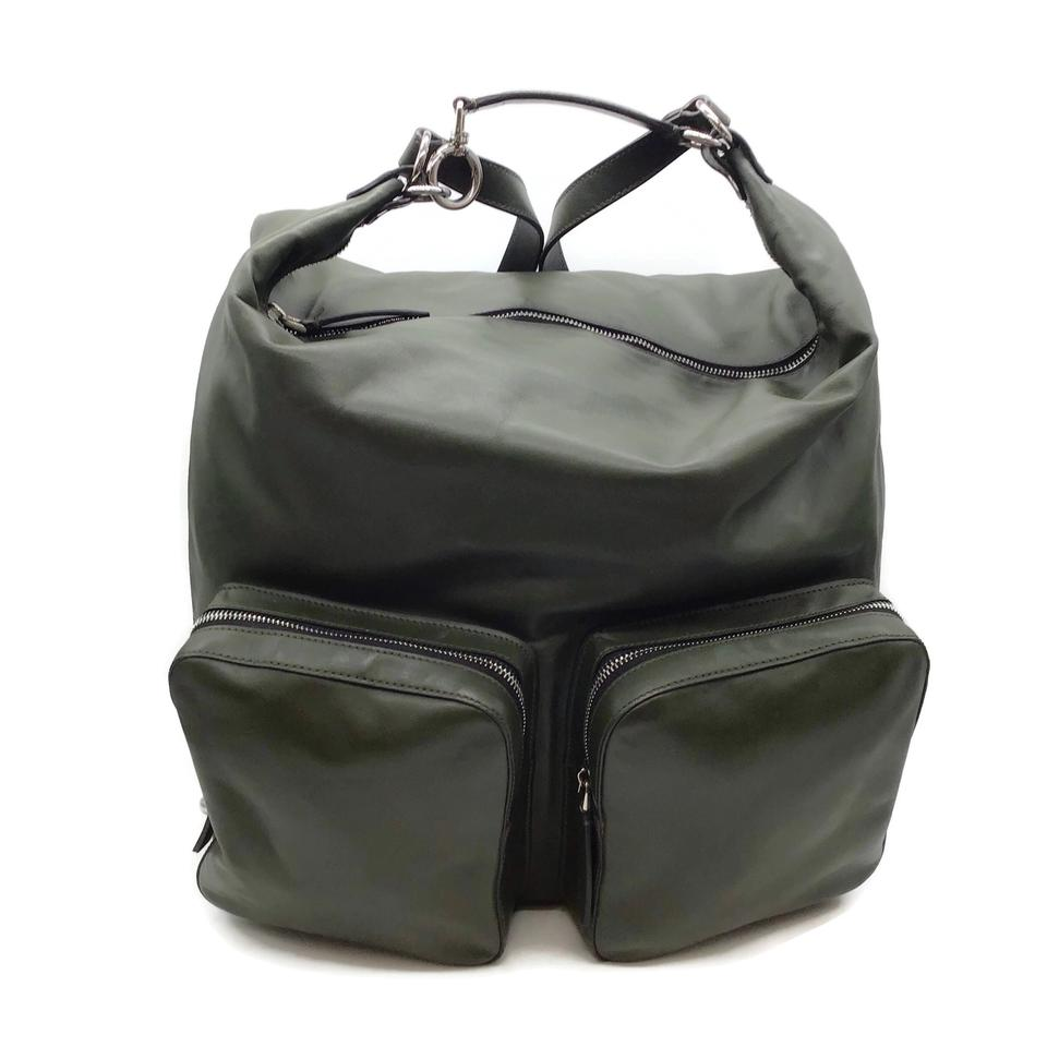 Marni Convertible Olive Leather Backpack
