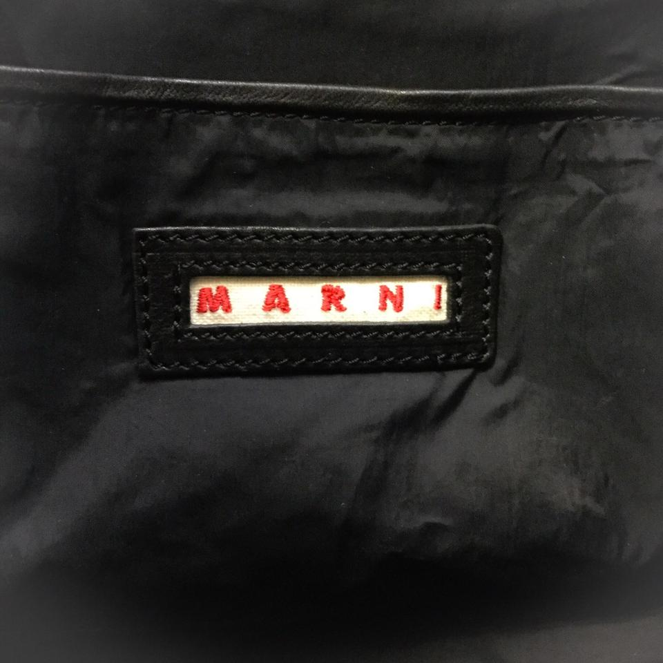 Marni Gold Stud Charcoal / Peanut Leather Tote